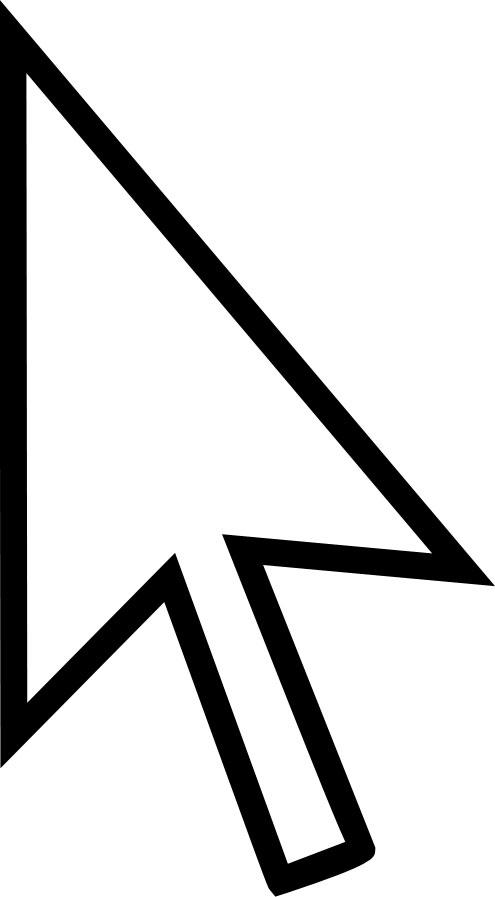 矢印イラスト「白カーソル」- 無料のフリー素材 Mouse