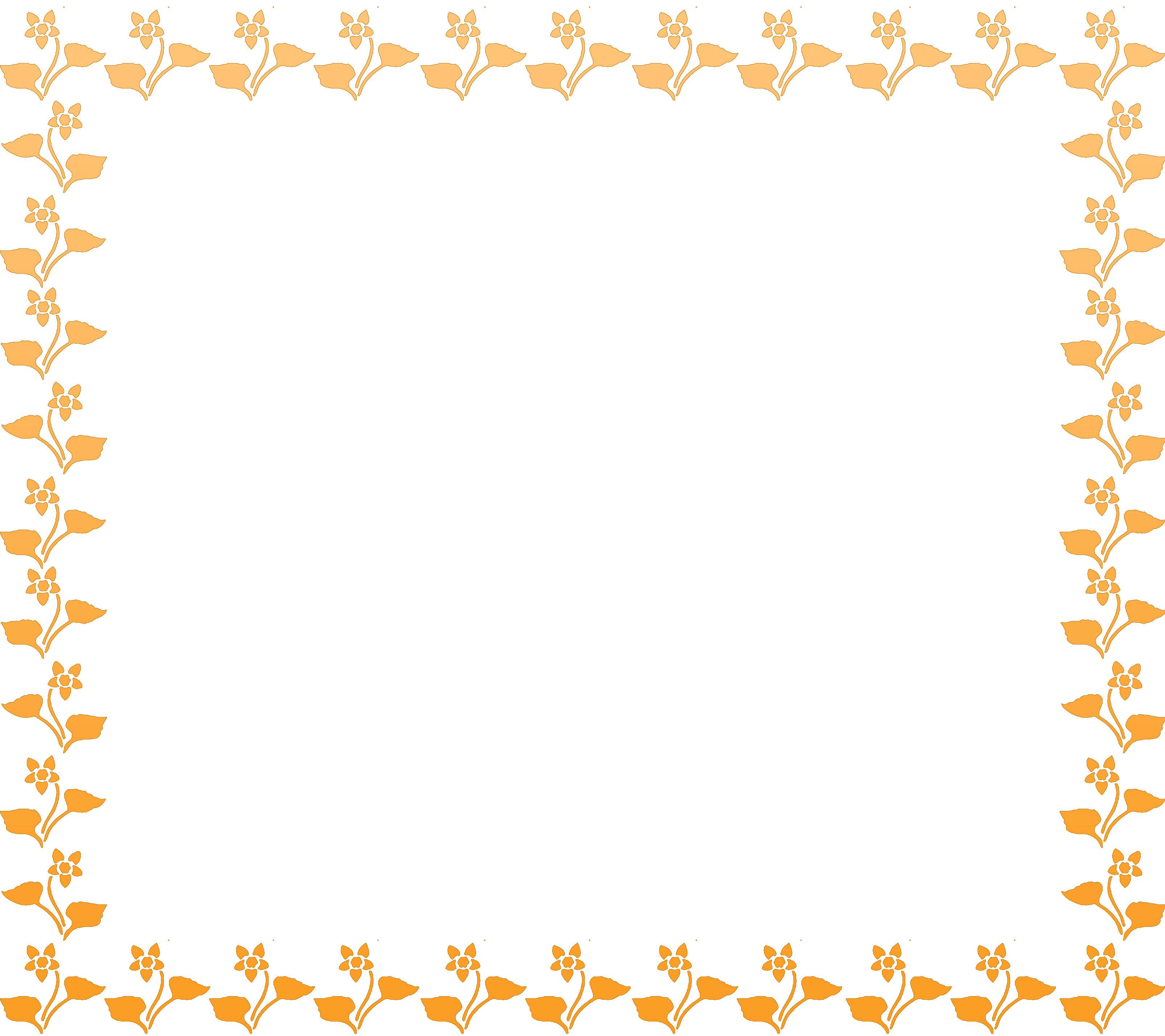 寄せ書きデザイン フレーム枠素材黄色い花のイラスト