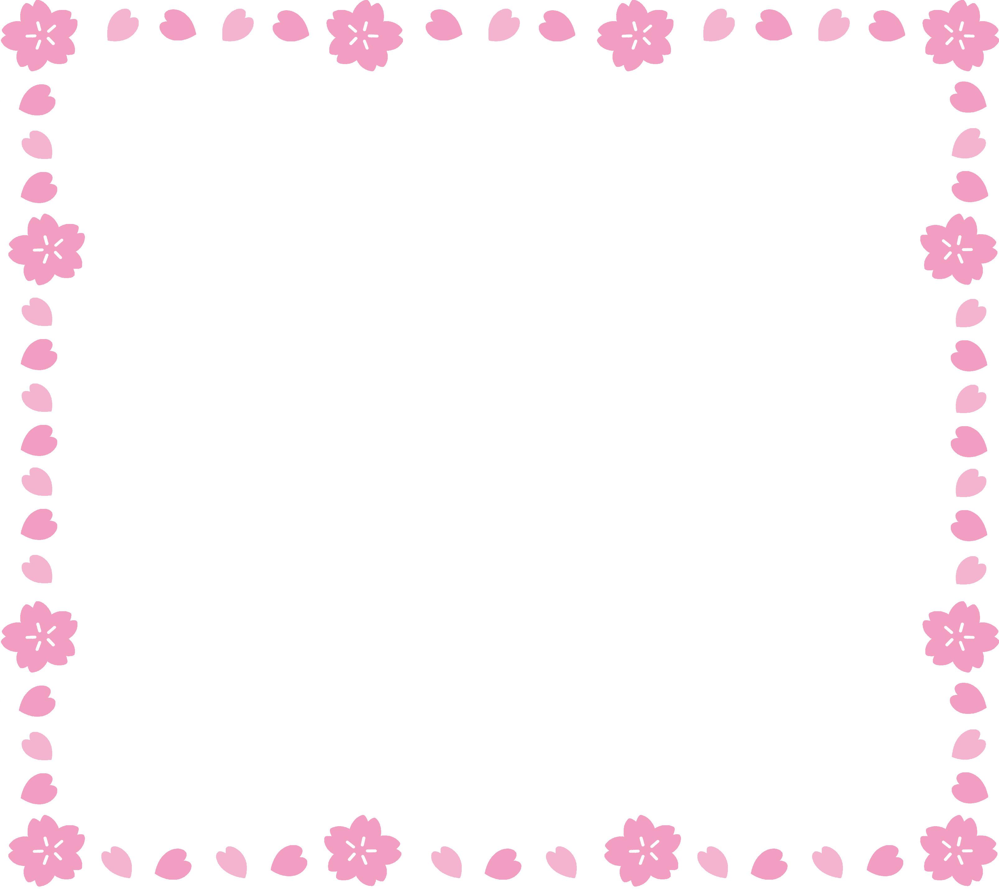 イラスト素材 桜フレーム pictures to pin on pinterest