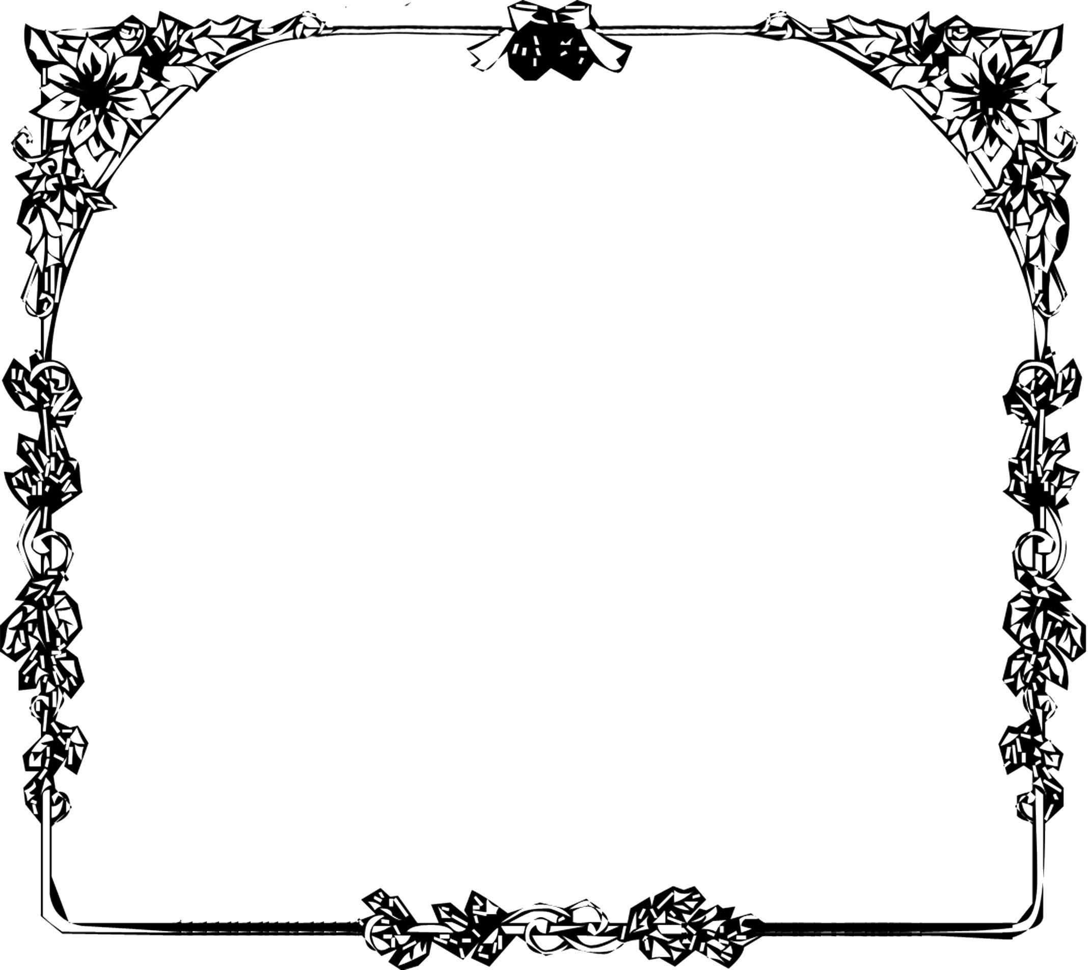 フレーム枠イラスト「花とベル ... : メッセージカード 素材 無料 枠 : カード