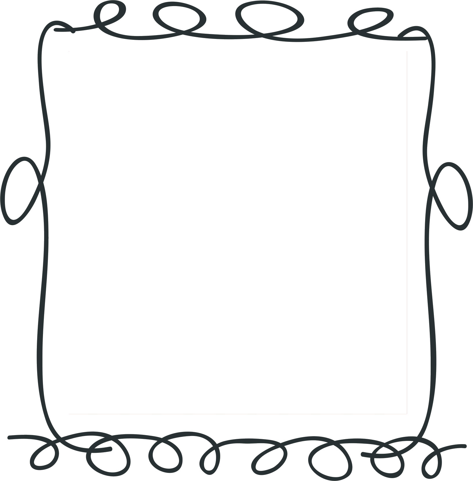 フレーム・囲い枠のイラストno.116『手書き風・ポップフレーム』/無料の