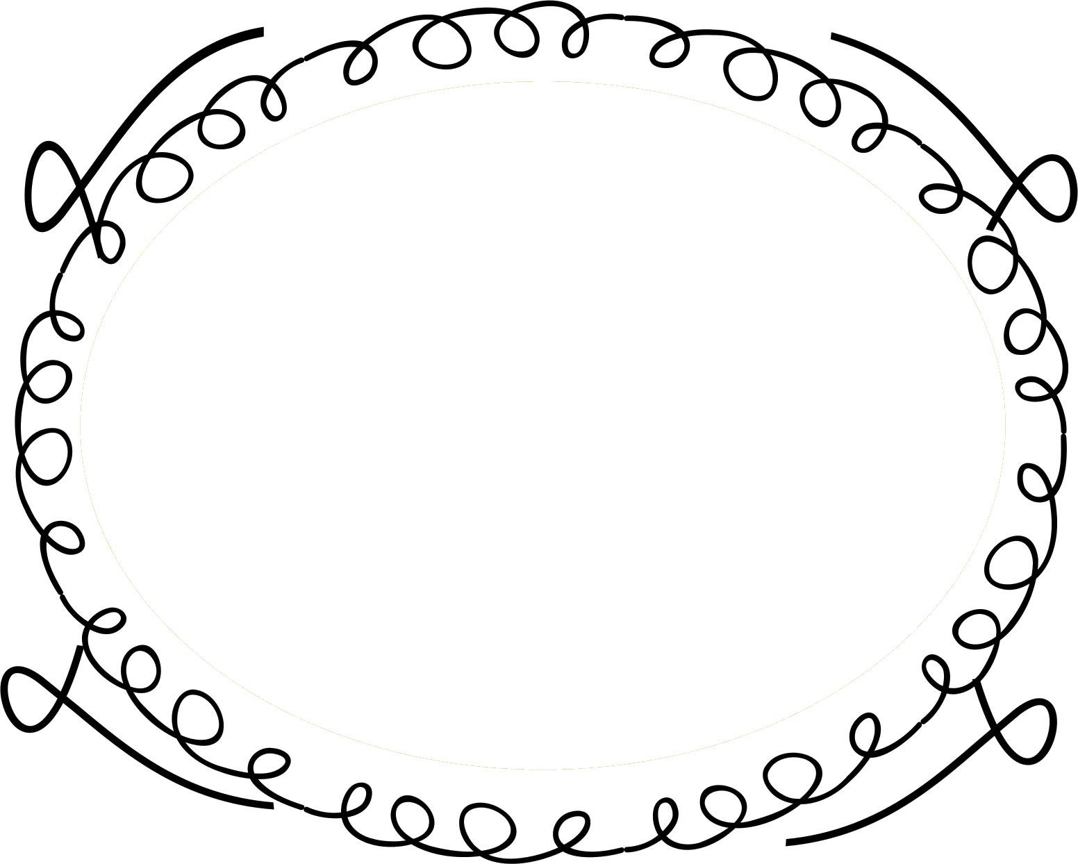 フレーム・囲い枠のイラストno.118『手書き風・ポップフレーム』/無料