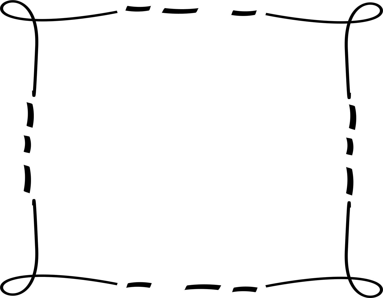 フレーム・囲い枠のイラストno.119『手書き風・ポップフレーム』/無料