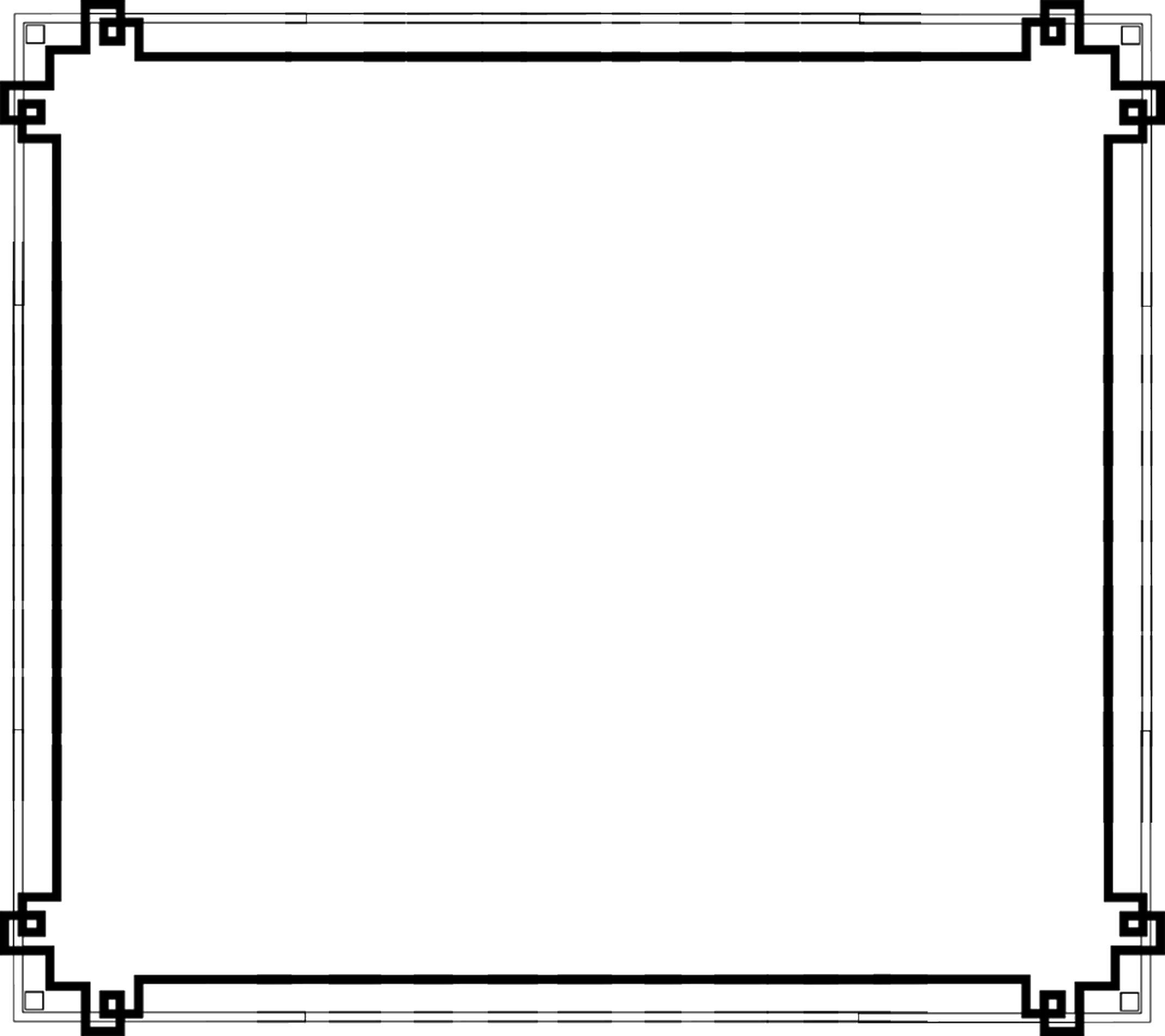無料のフリー素材 - フレーム枠・タイトル「カクカク」