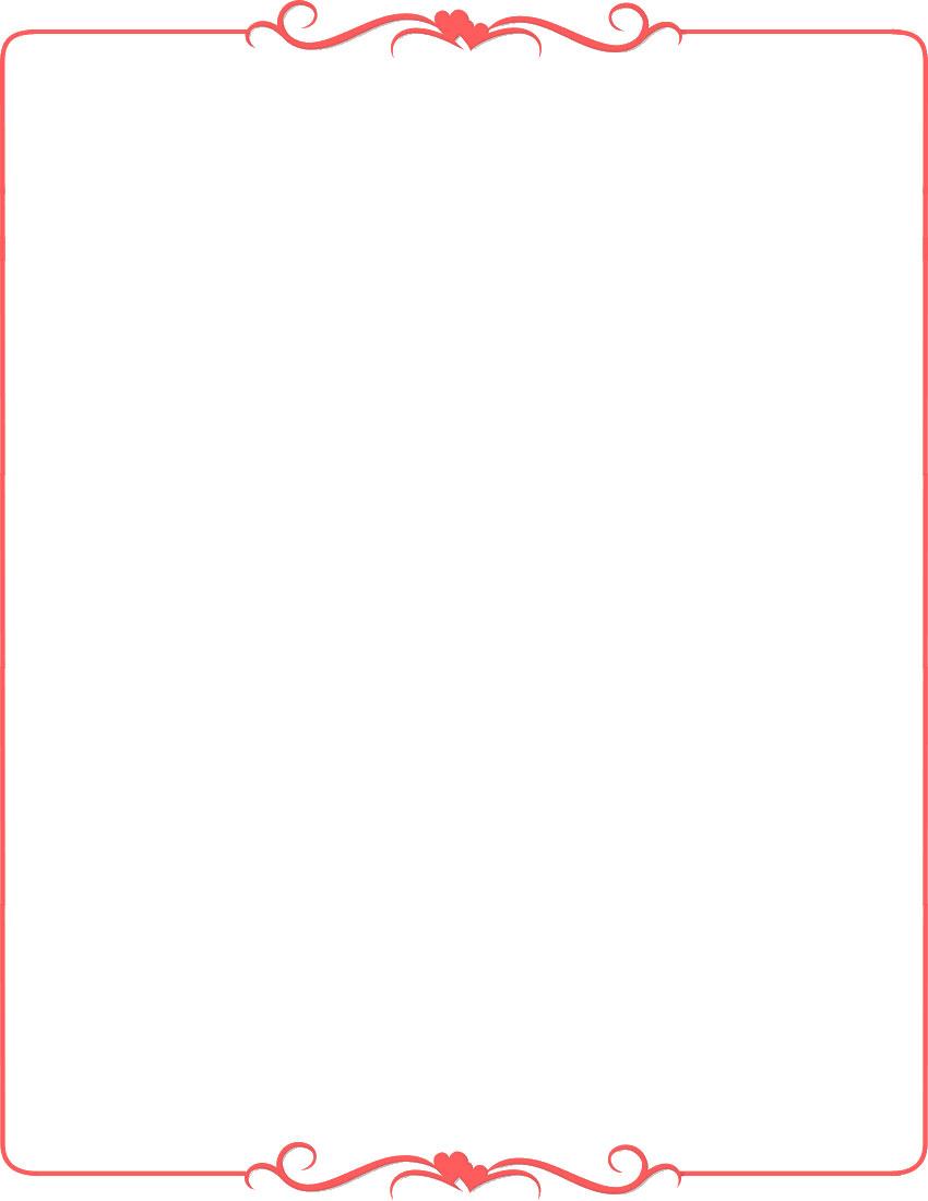 無料のフリー素材 - フレーム枠・タイトル「シンプル(ハート)」