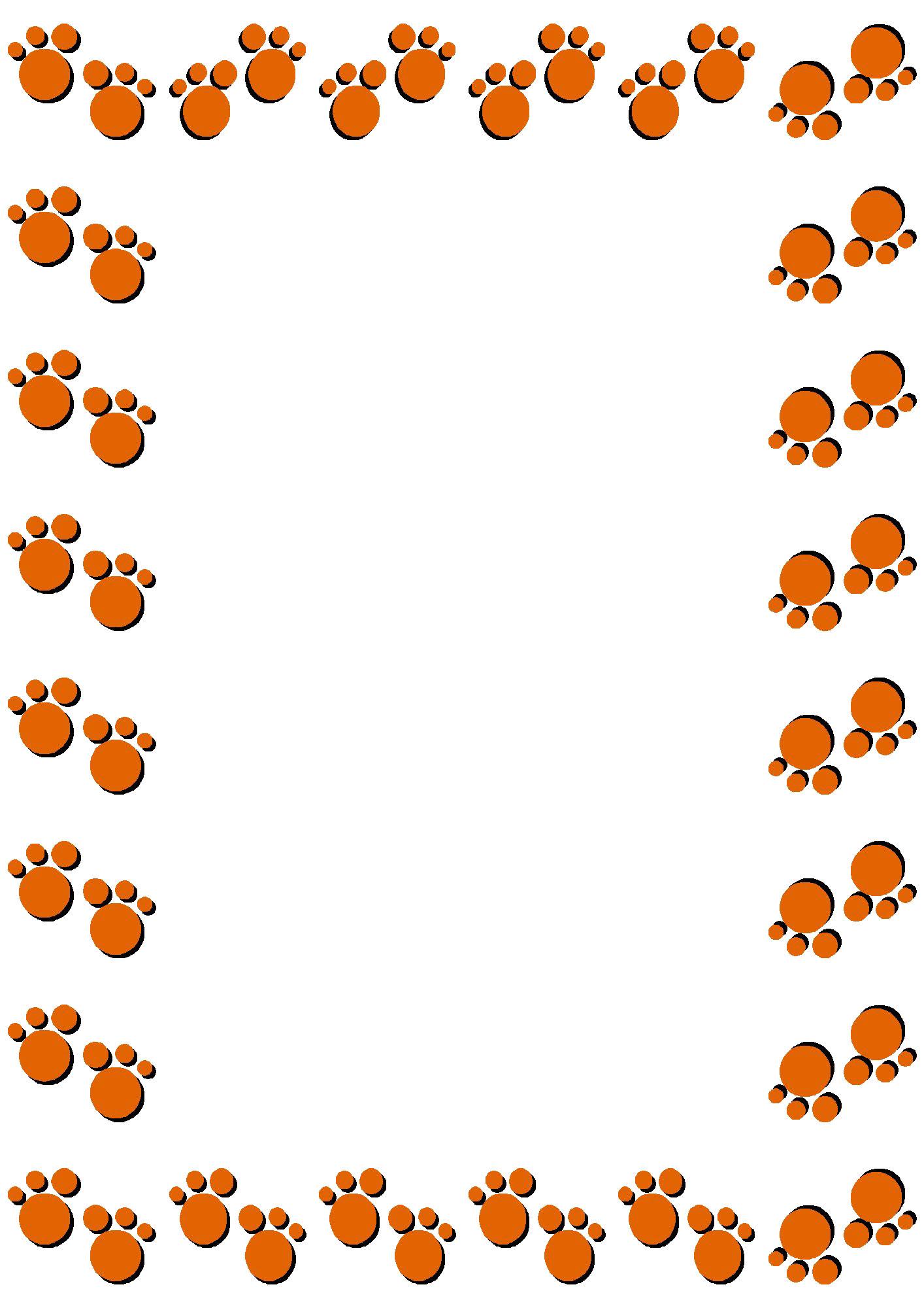 無料のフリー素材 - フレーム枠・タイトル「動物の足跡」