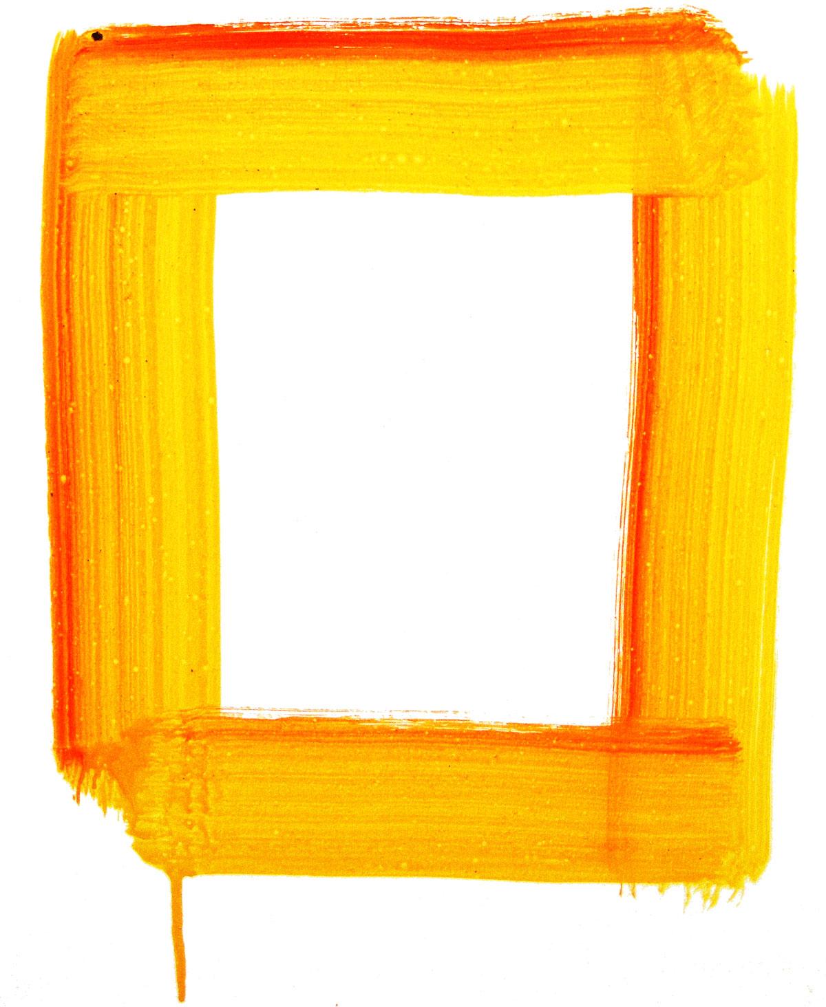 無料のフリー素材 フレーム枠タイトル油絵 絵の具