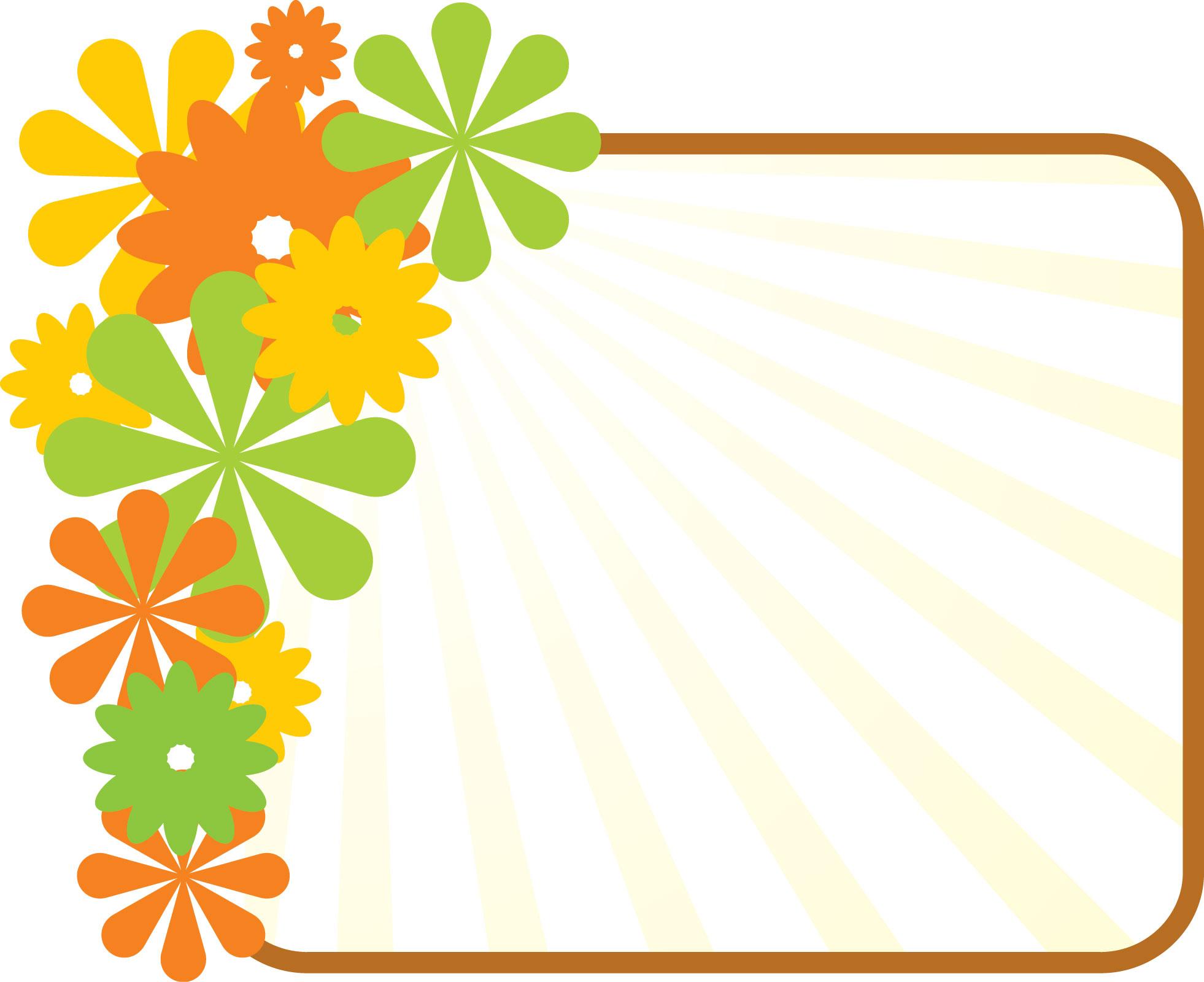 無料のフリー素材 - フレーム枠・タイトル「花のイメージ」