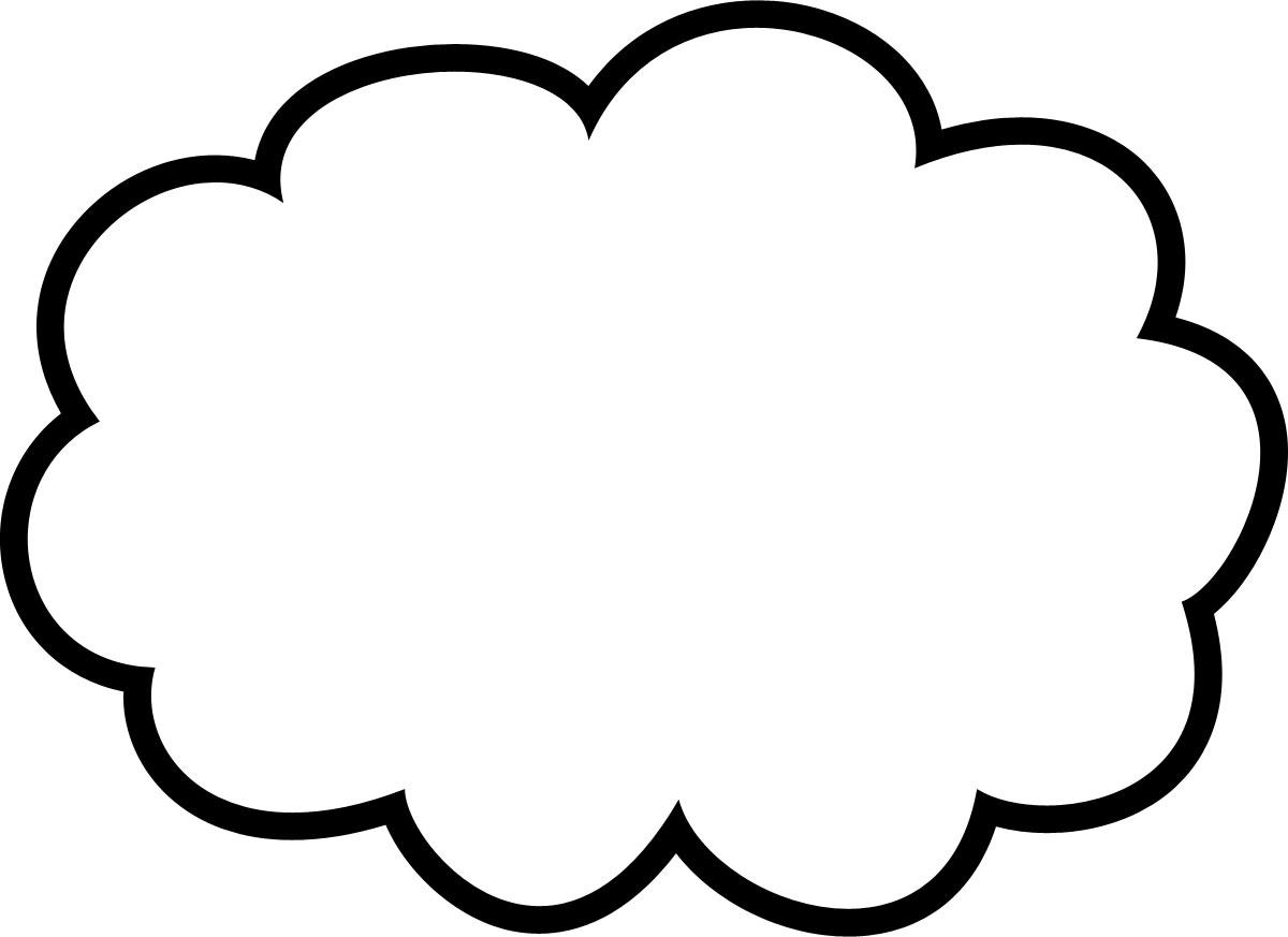 吹き出しイラスト「雲形-太枠」-...