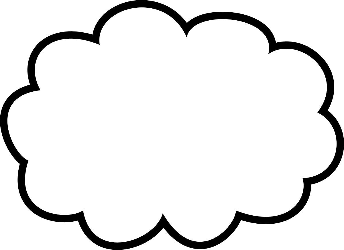 吹き出しイラスト素材「雲形 ...