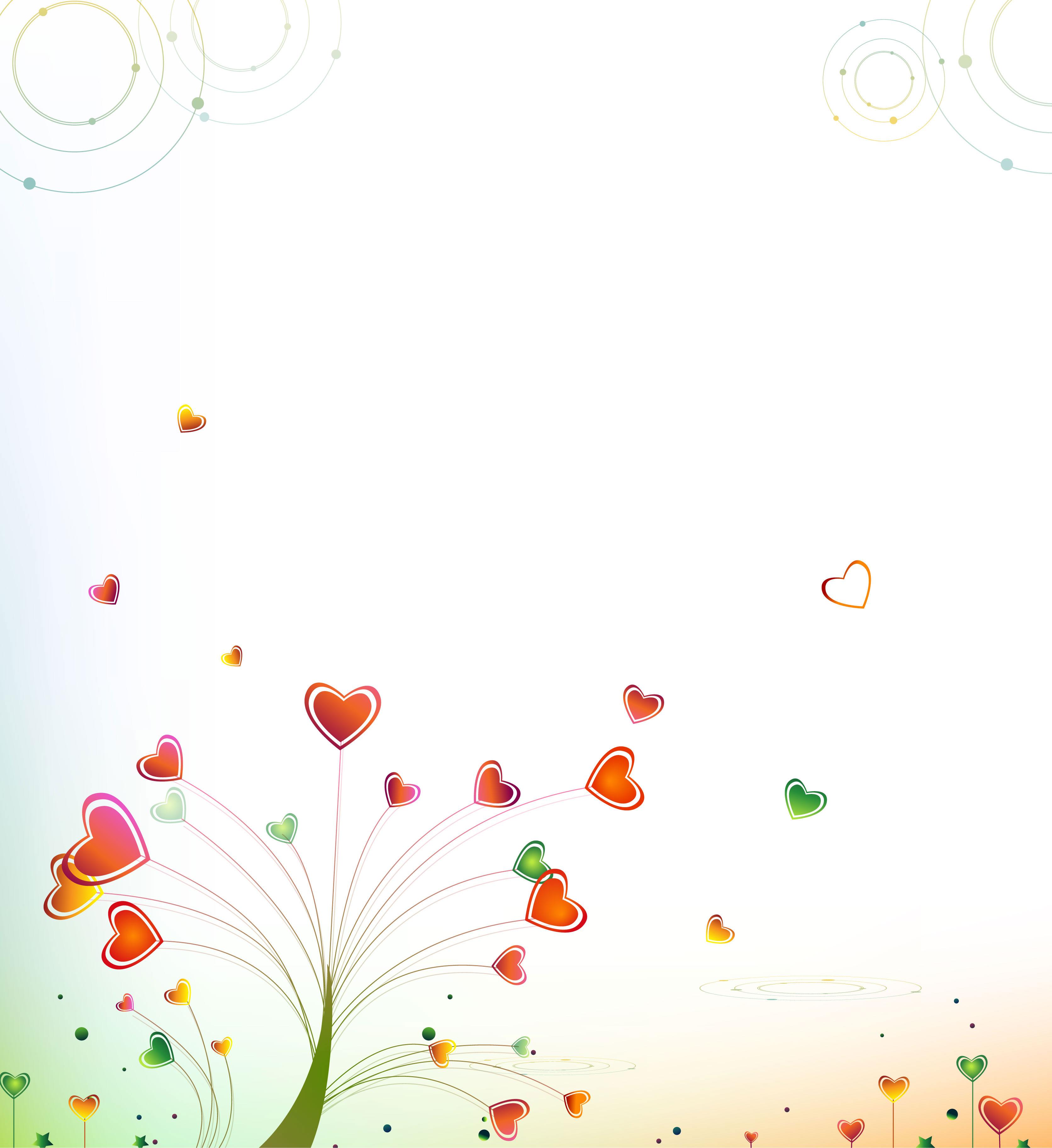 ハートデザインの壁紙 背景素材 無料画像no 010 ハートツリー