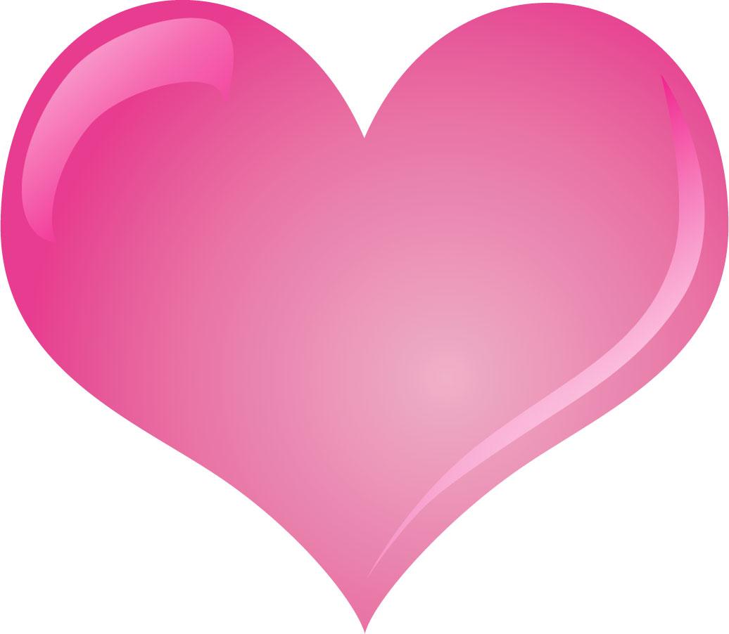 ハートマークの見本-ピンクハート