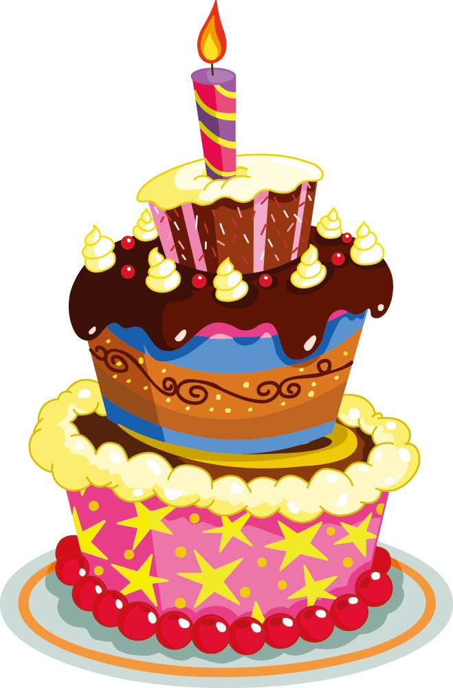 ケーキのイラストno 63『カラフルなケーキ』/無料のフリー素材集