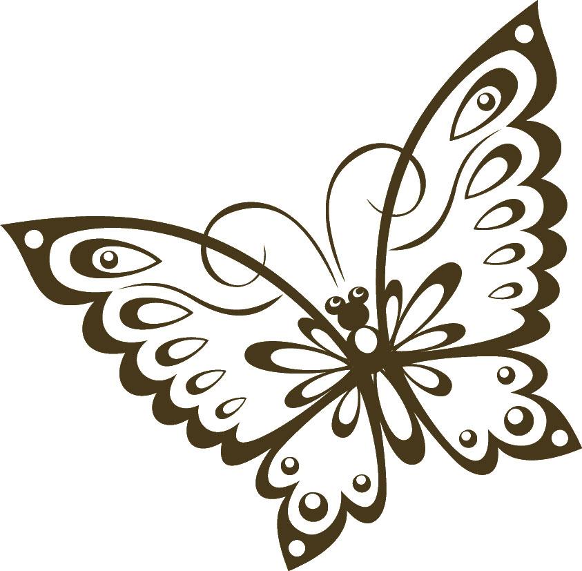 寄せ書きデザイン イラスト素材コミカルな蝶
