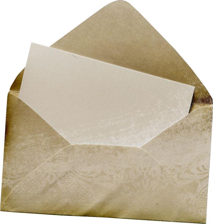 寄せ書きデザイン イラスト素材レターセット 茶色