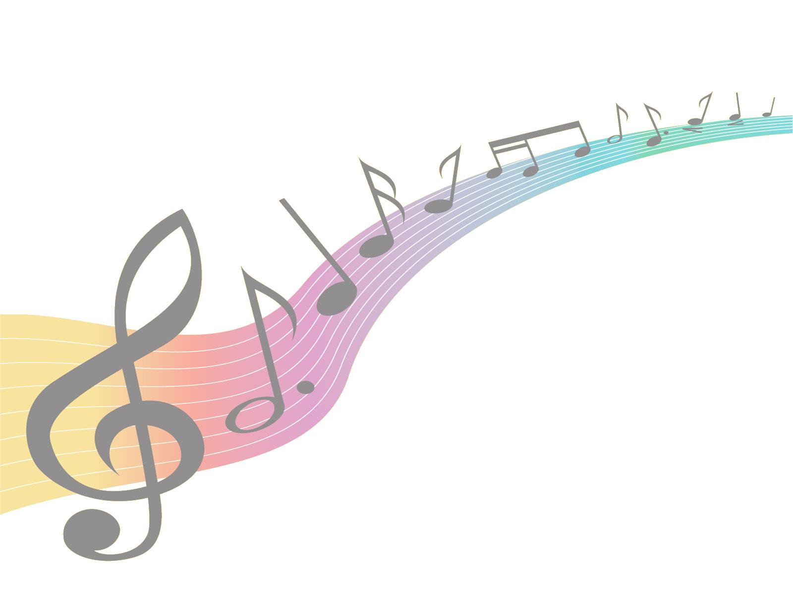 音符イラスト「虹色の楽譜」- 無料のフリー素材