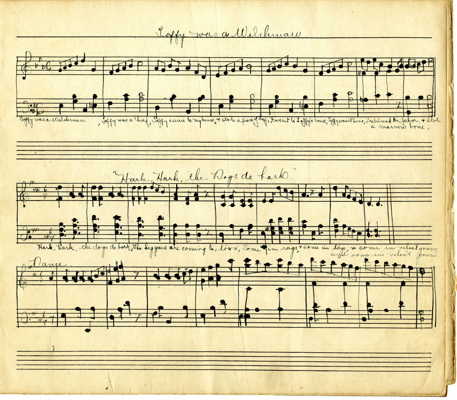 音符イラスト手書きの楽譜2 無料のフリー素材