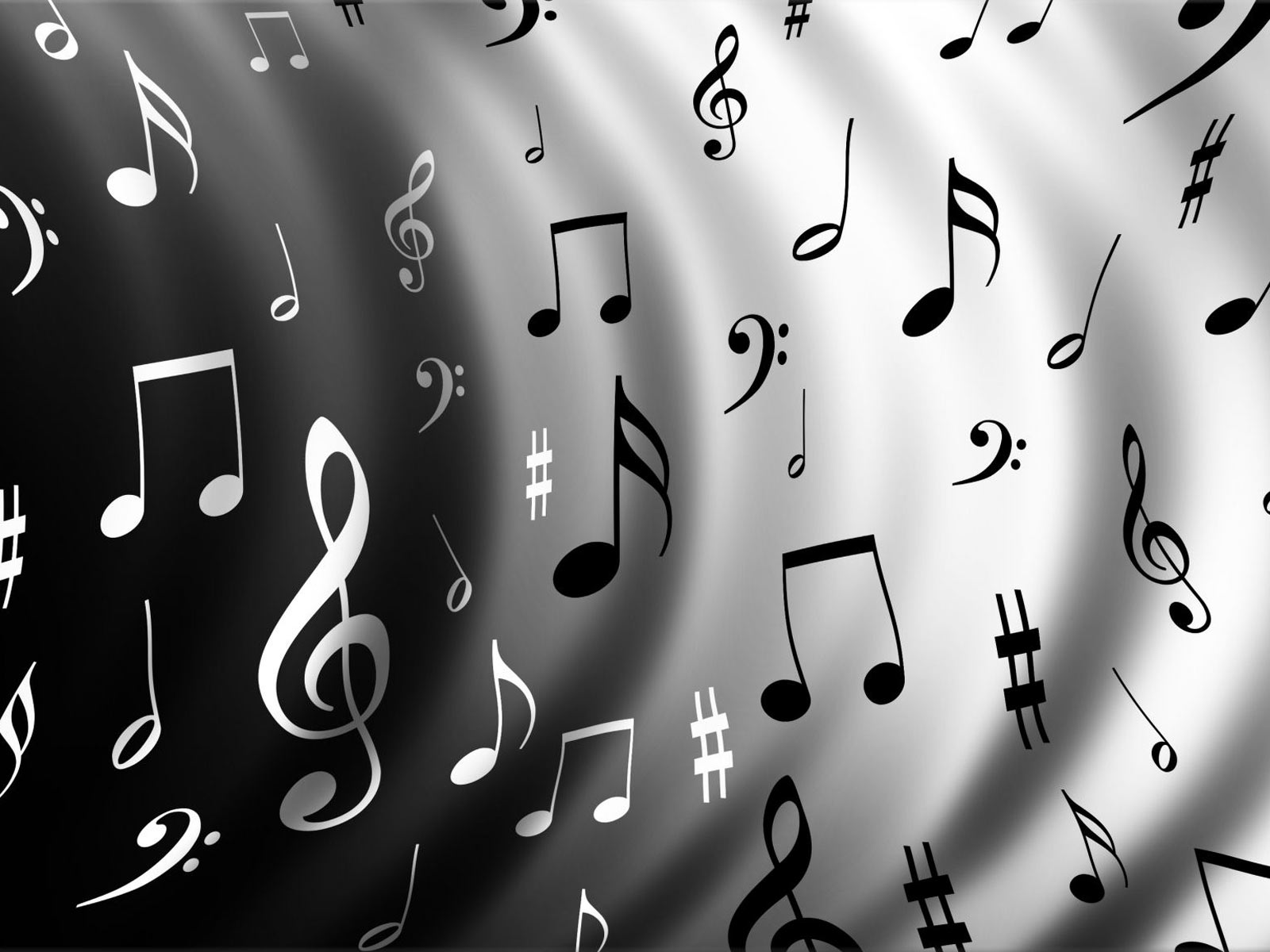 音符イラスト白黒の波紋 無料のフリー素材