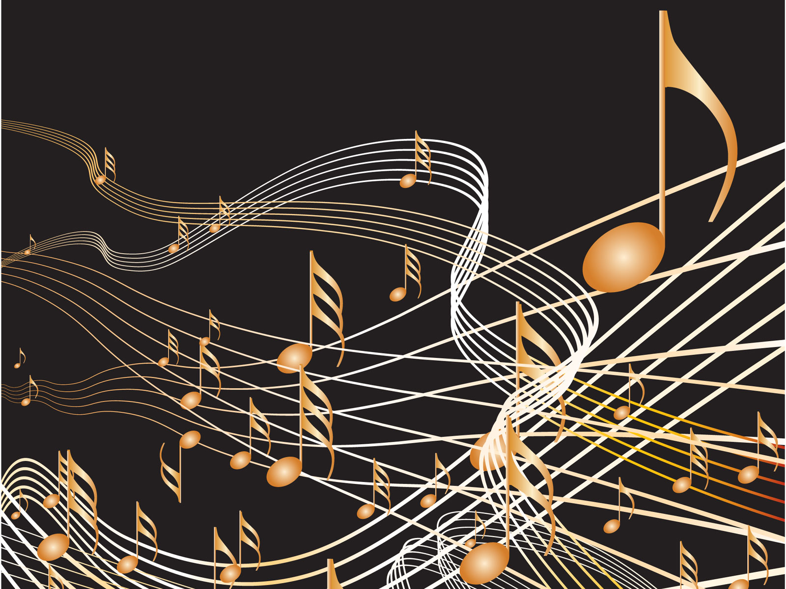 音楽・音符イラスト素材「光の筋」
