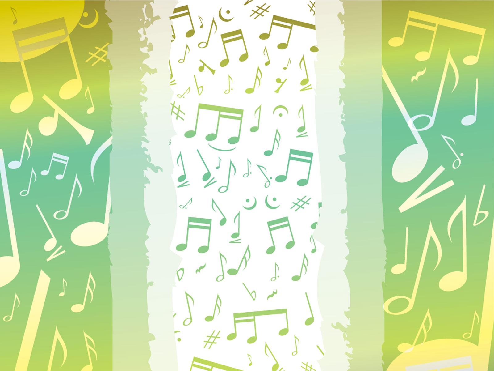 音符イラスト「ポップイメージ-黄緑2」- 無料のフリー素材