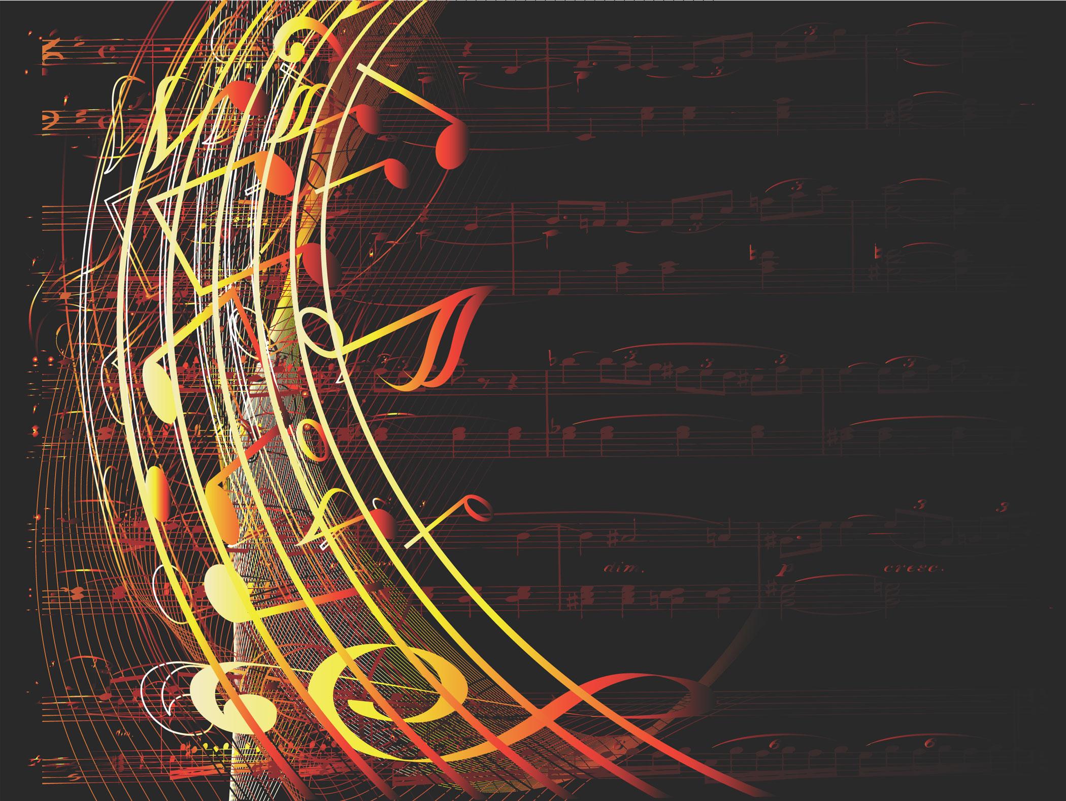 音符イラスト ゴージャスイメージ 無料のフリー素材