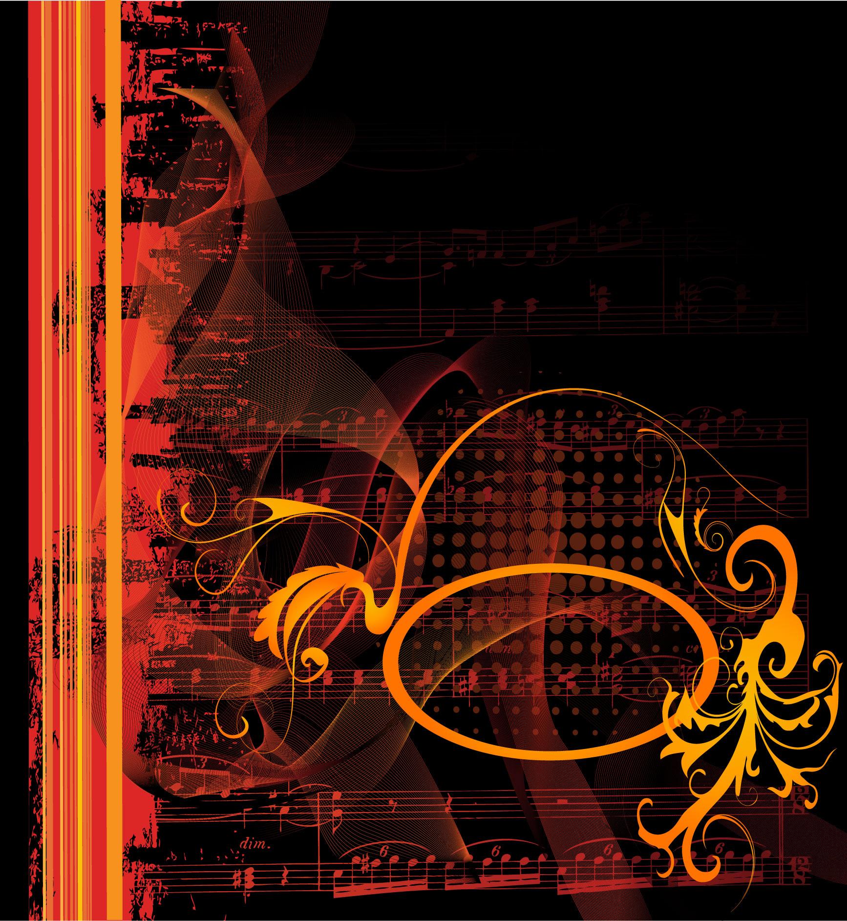 音符イラスト ゴージャスイメージ2 無料のフリー素材