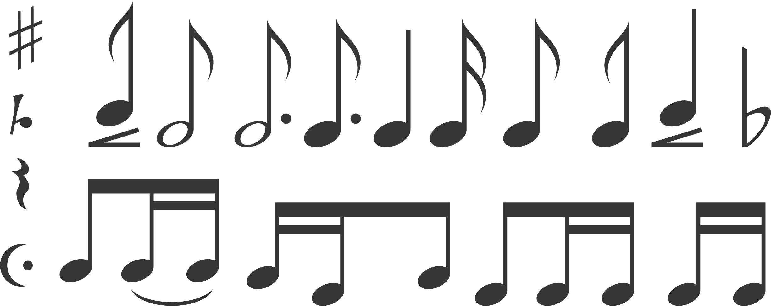 音符イラスト音符音楽記号一覧 無料のフリー素材