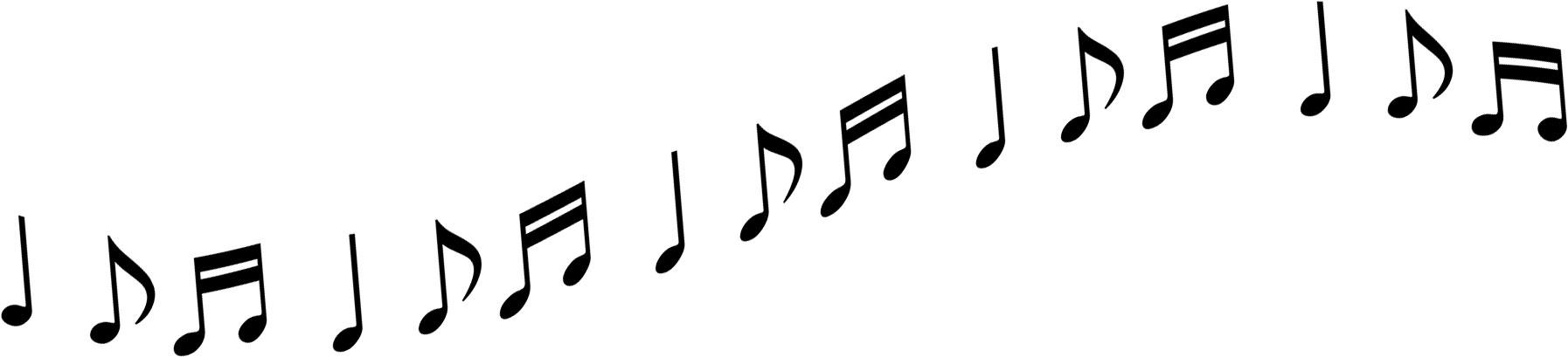音符イラスト流れるメロディ黒 無料のフリー素材