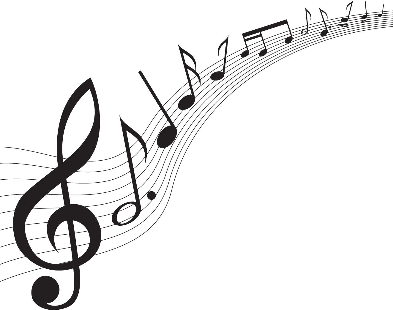 音符イラスト流れる楽譜 無料のフリー素材