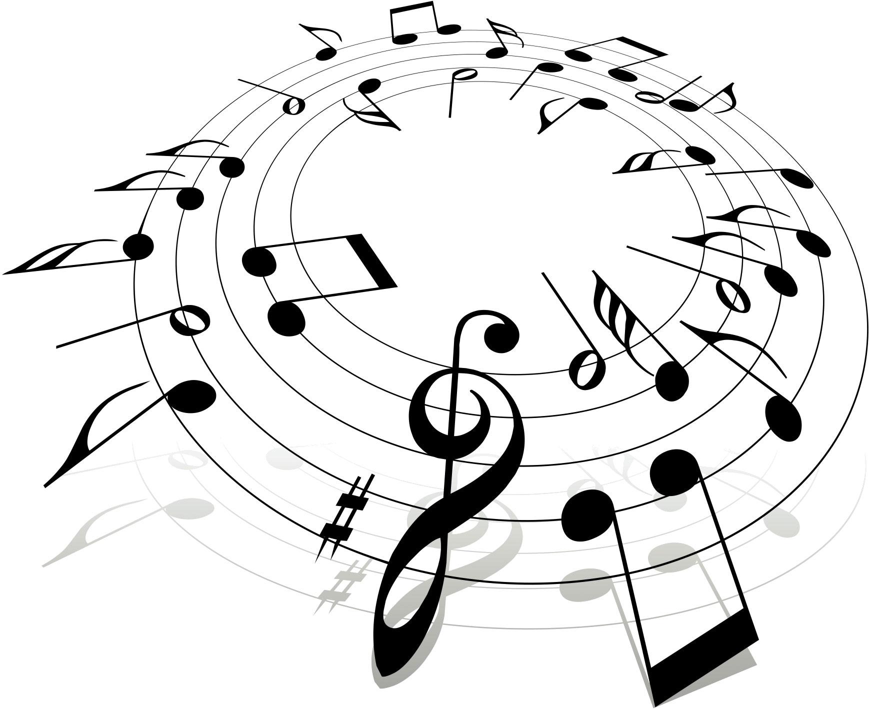 音符イラスト楽譜サークル 無料のフリー素材
