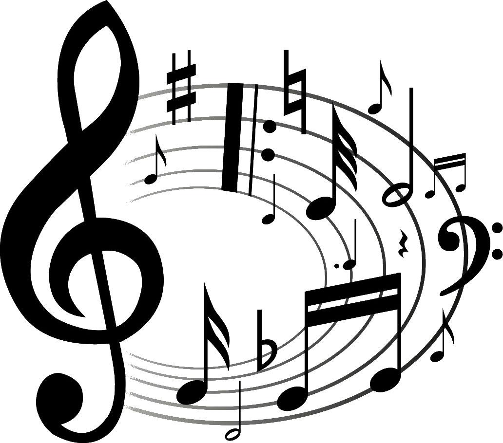 音符イラスト 楽譜サークル2 無料のフリー素材