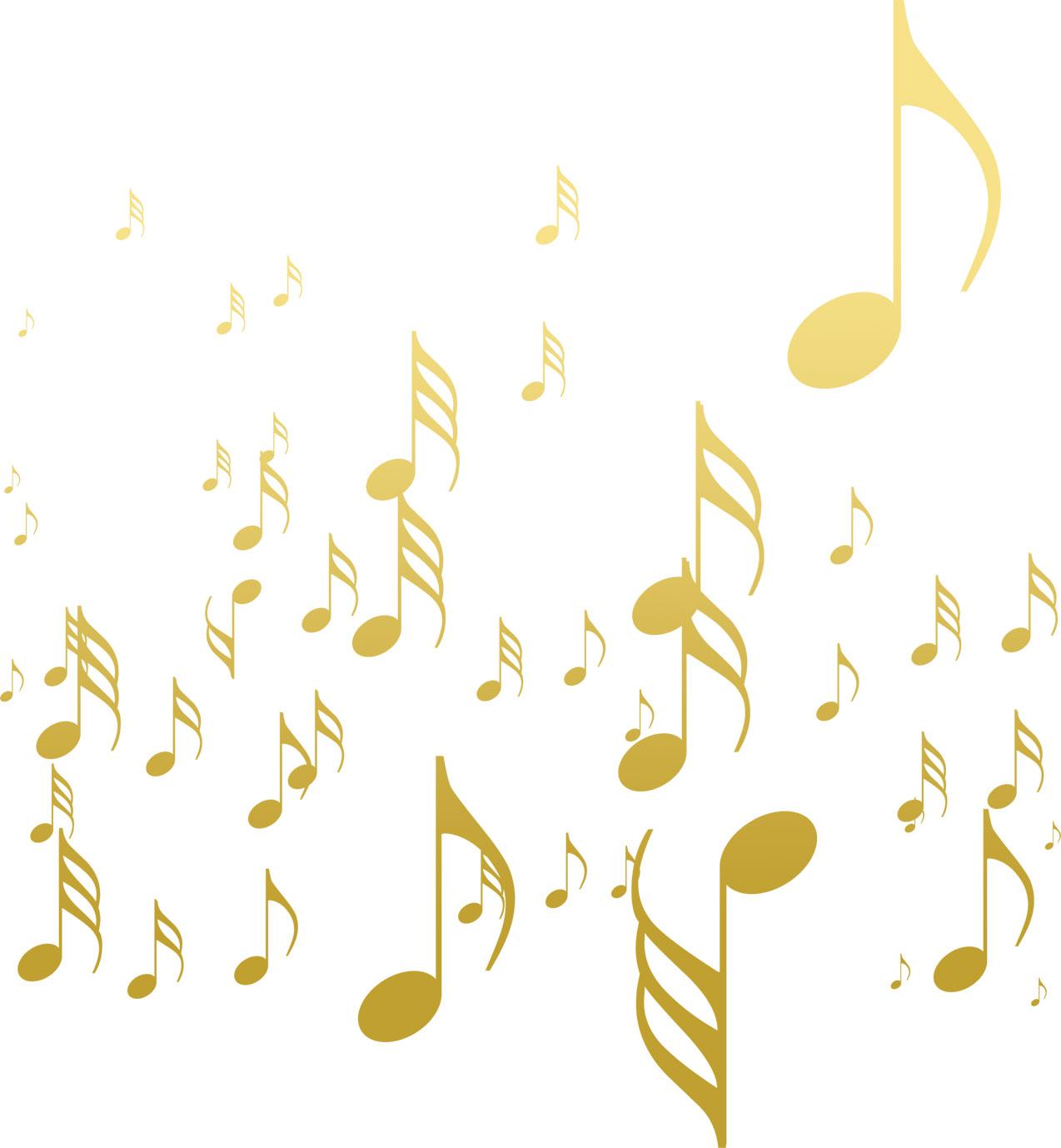 音符イラスト大小の淡い音符 無料のフリー素材