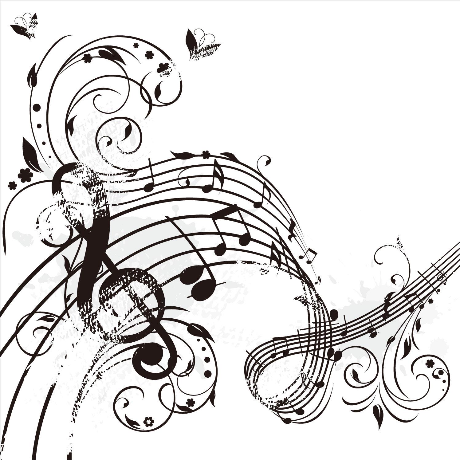 音符のイラストNo.493『かすれた楽譜』/無料の ...