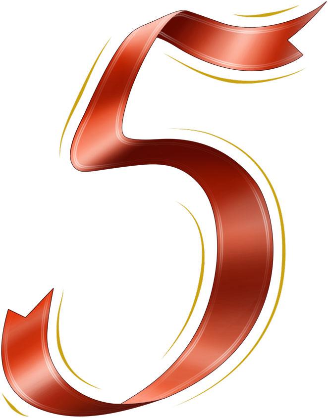 すべての講義 アルファベット表 ダウンロード : リボンの見本-赤リボンの数字 ...