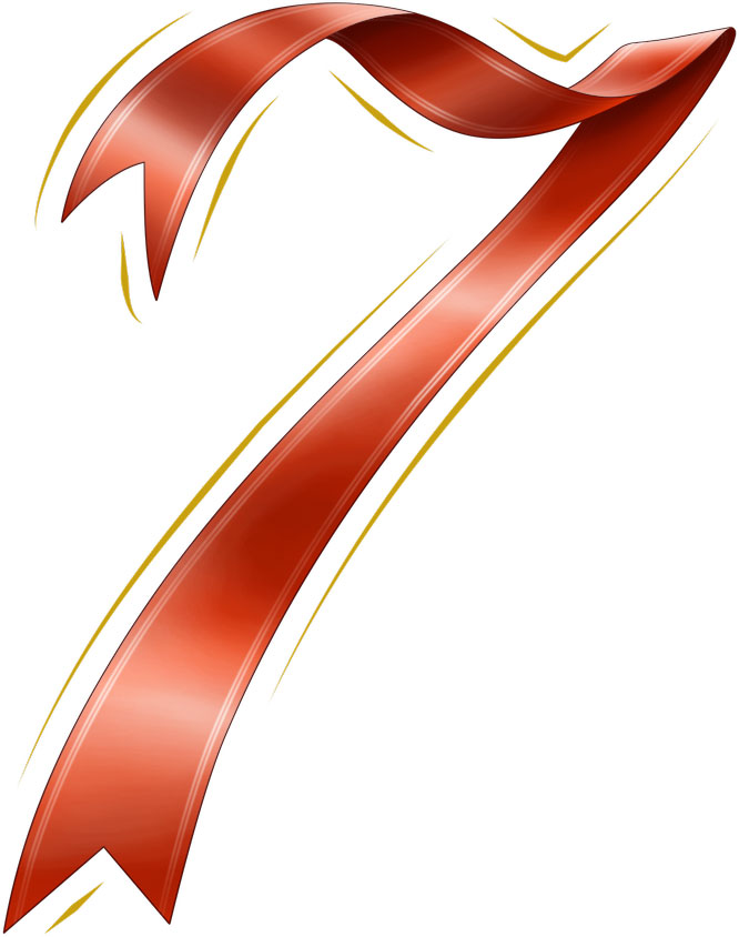 無料 アルファベット表 無料 : ... 無料素材No.008『赤リボンの数字
