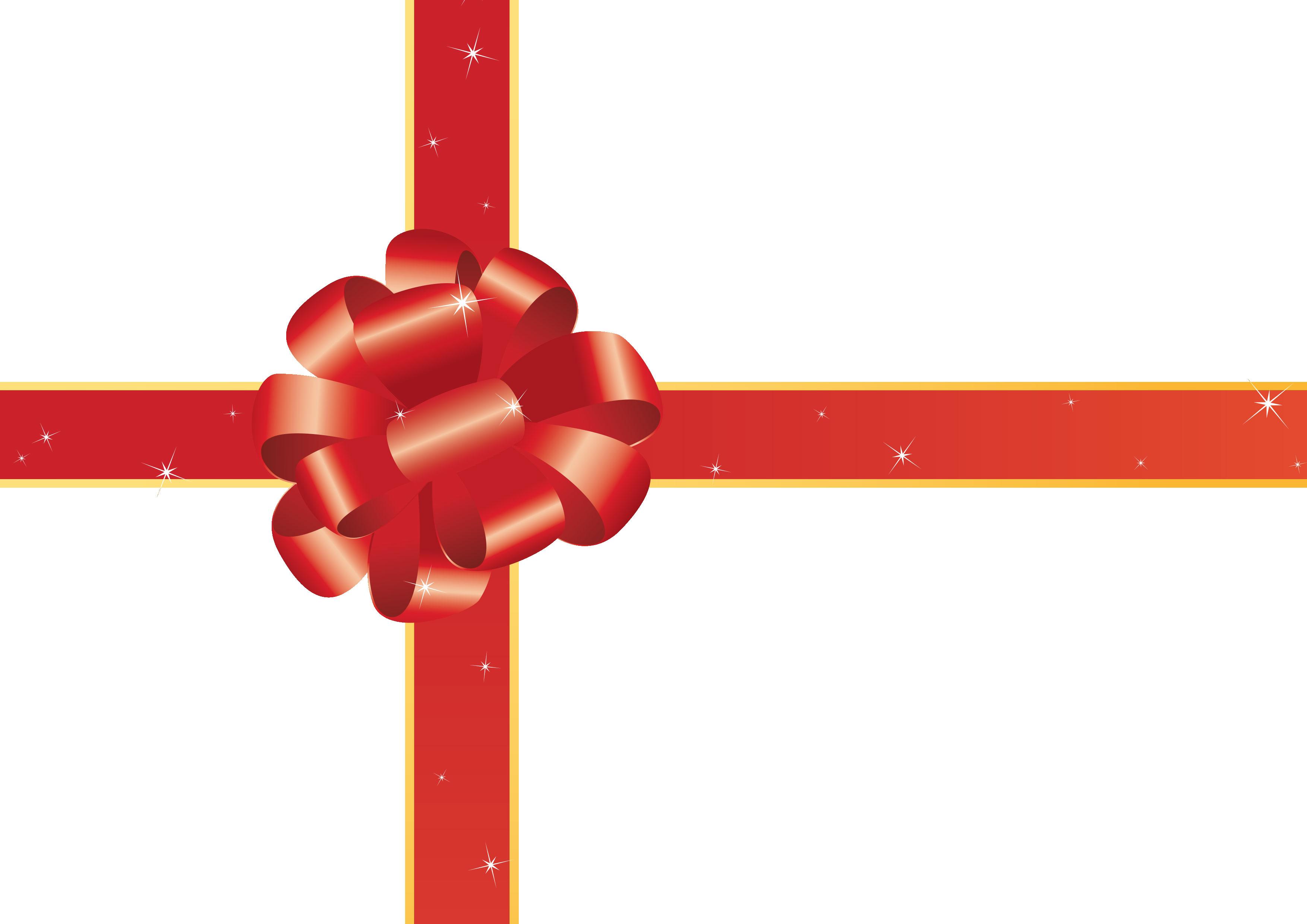 リボンデザインの壁紙・背景/無料素材no.007『赤い装飾用リボン・透明』
