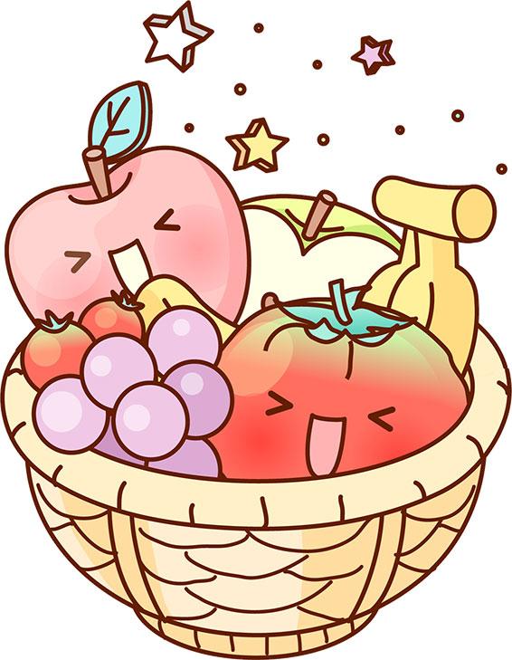 秋の画像サンプル-秋の果物-バスケット