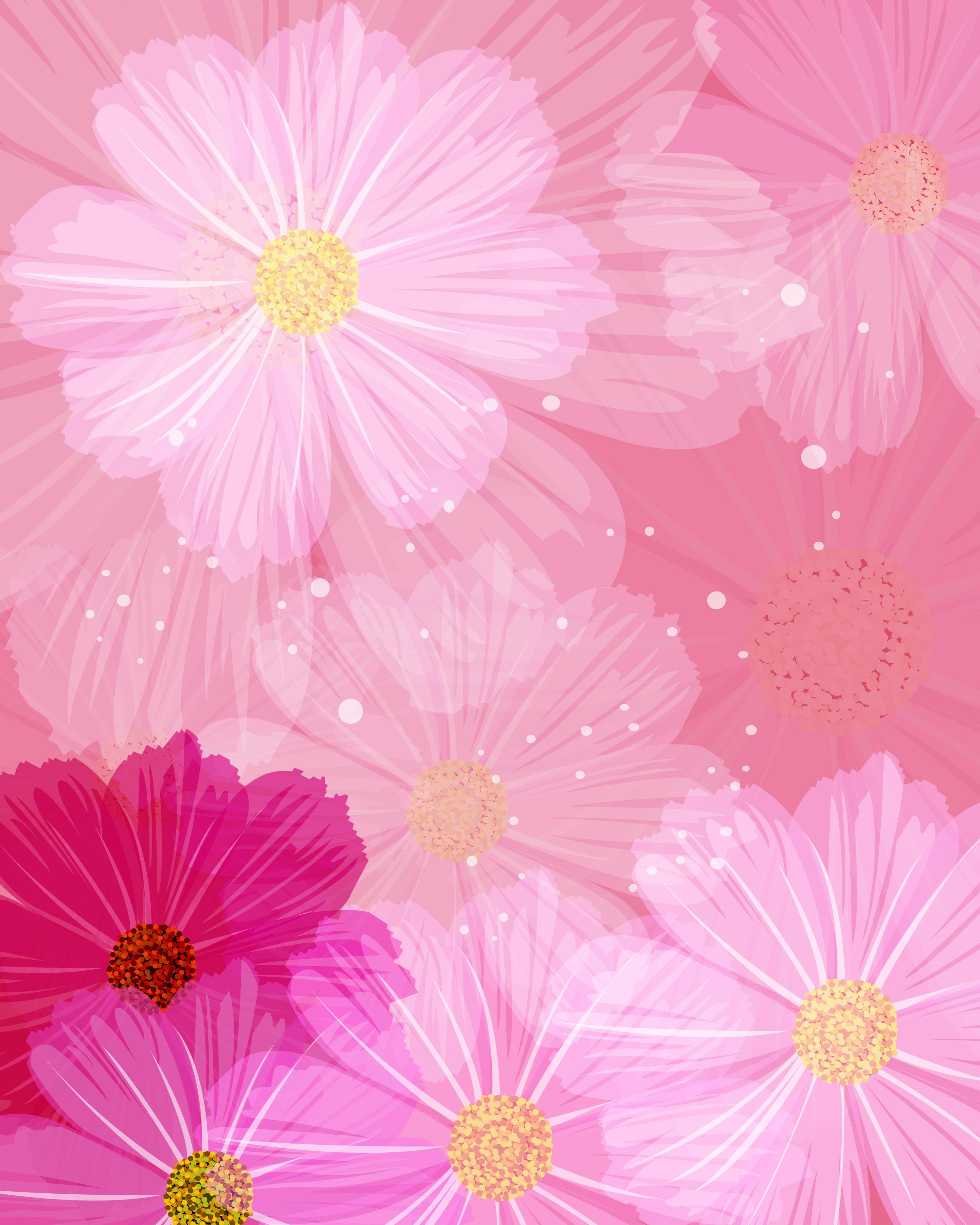 秋のイラストno167コスモスの壁紙無料のフリー素材集花鳥風月