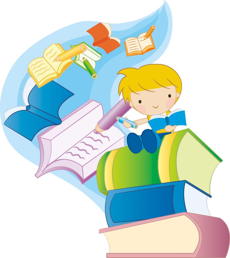 秋の画像サンプル-本を読む男の子
