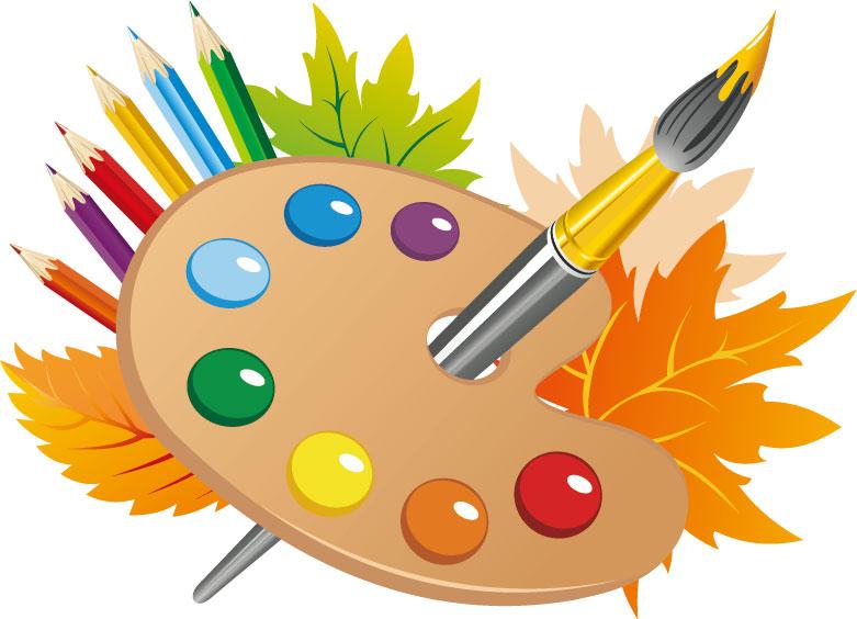 秋の画像サンプル-絵の具とパレット