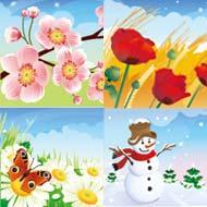 季節12ヶ月のイラストなら花鳥風月無料のフリー素材集