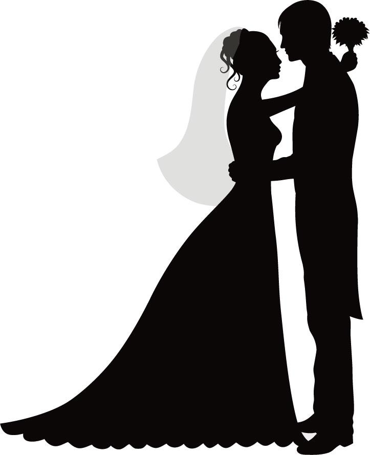高解像度無料イラスト,花嫁花婿・結婚式
