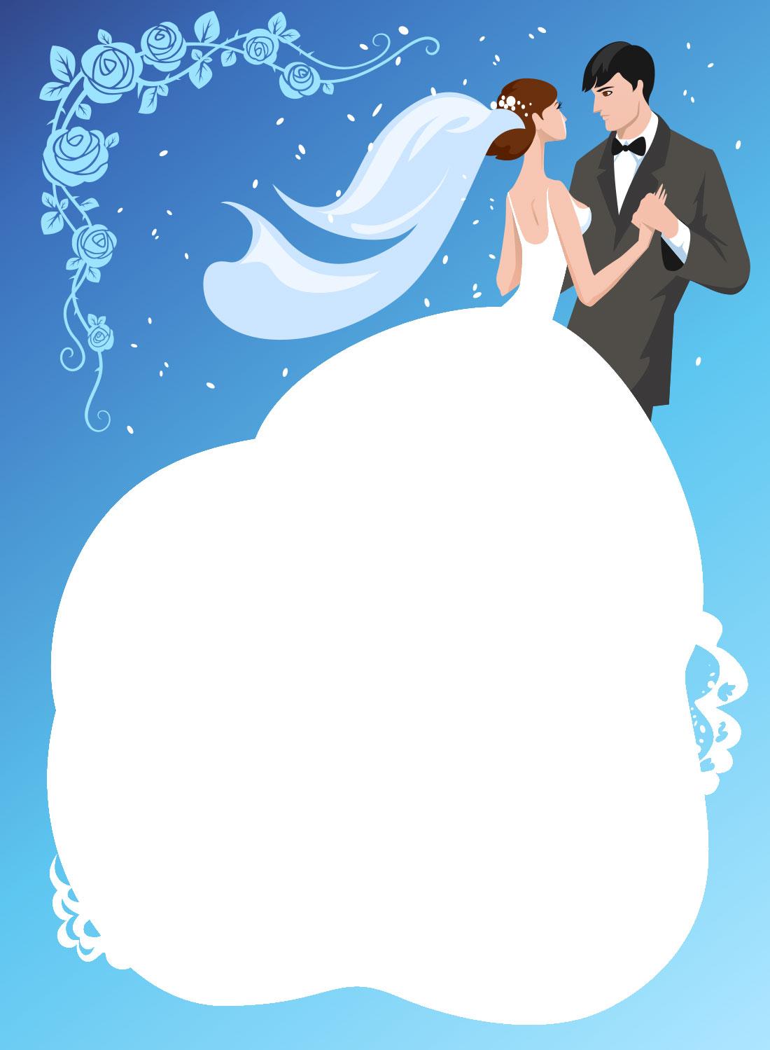ブライダル : ブライダル フレーム イラスト : 結婚のイラストNo.178『フレーム ...