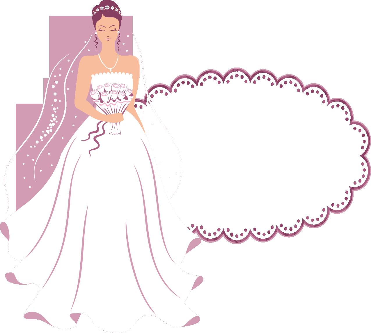 ブライダル ブライダル フレーム イラスト : 結婚のイラストNo.183『フレーム ...