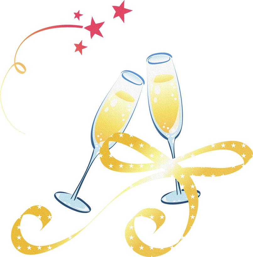 画像サンプル-シャンパン・リボン