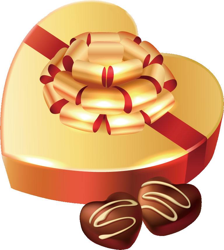 画像サンプル-ハート型のチョコと箱