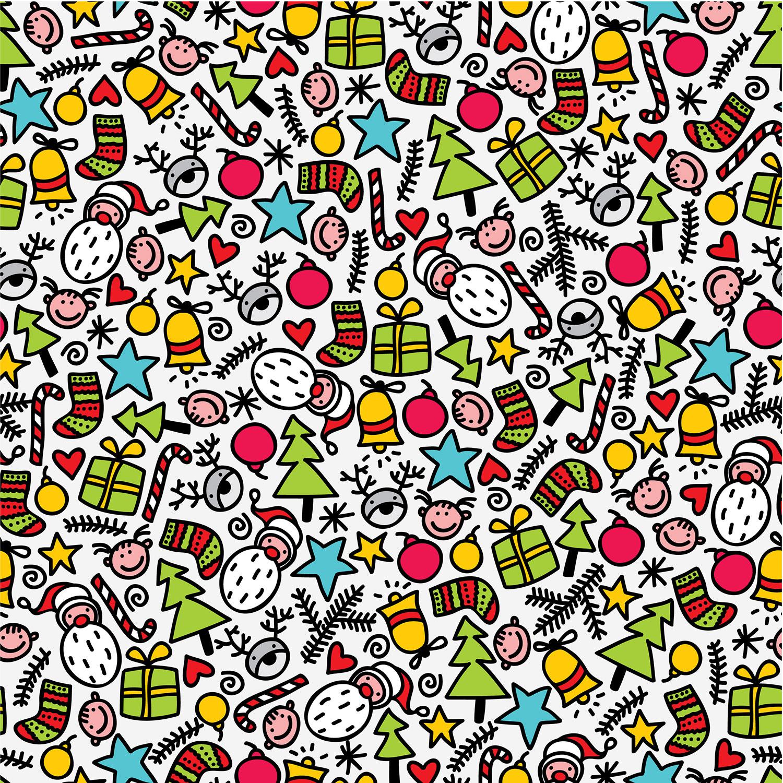 クリスマスのイラストno 2 壁紙 ポップパターン 無料のフリー素材集 花鳥風月