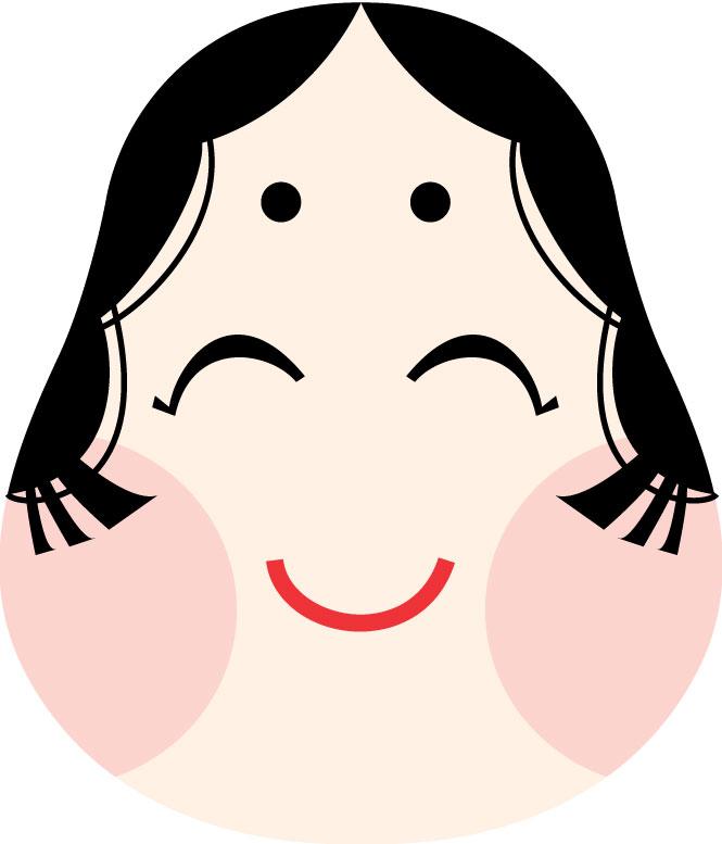 イラストNo.066『福笑い-おかめ ... : 福笑い おかめ : すべての講義