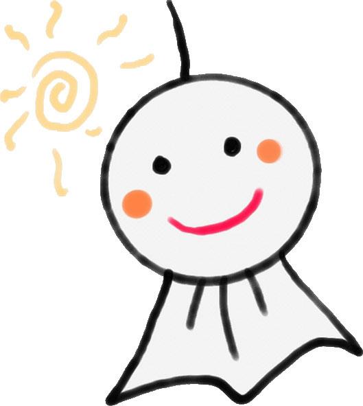 画像サンプル-てるてる坊主と太陽