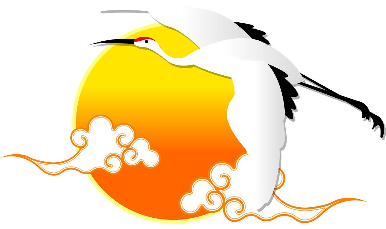 画像サンプル-鶴と太陽